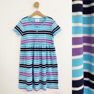 Hanna Andersson Girl's Blue Striped Summer Dress